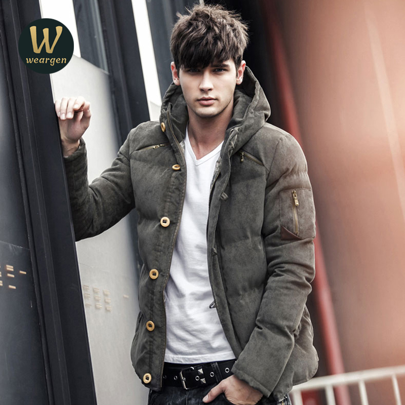 Autumn Winter Parka Men Jacket Coat Outerwear Fashion Hood Padded Quilted Warm Male Jackets Hooded Casual Wadde winter jacket men 2016 brand parka plus size men s hooded parka zipper quilted coat casual jackets