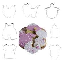 Emporte – lot de 7 pièces de biscuits en acier inoxydable, forme de sucette pour bébé, coupe-biscuits, Fondant, outils de décoration de gâteaux, moule, cuisson de cuisine