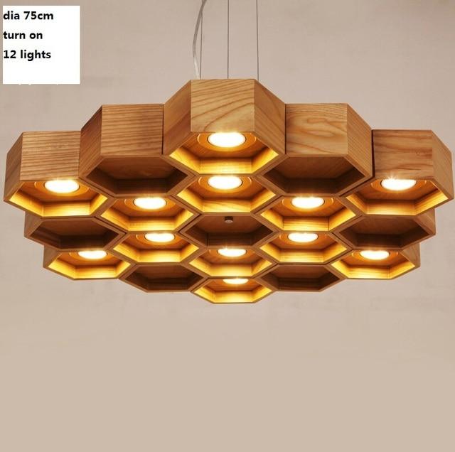 Aliexpresscom Buy Honeycomb wooden dia75cm 12 lights Chinese