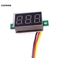 Mini medidor de voltaje de Panel de visualización LED, voltímetro Digital de 0,28 pulgadas, 0,28 pulgadas, 3 bits, CC 0-100v, rojo/azul/verde, 39% de descuento