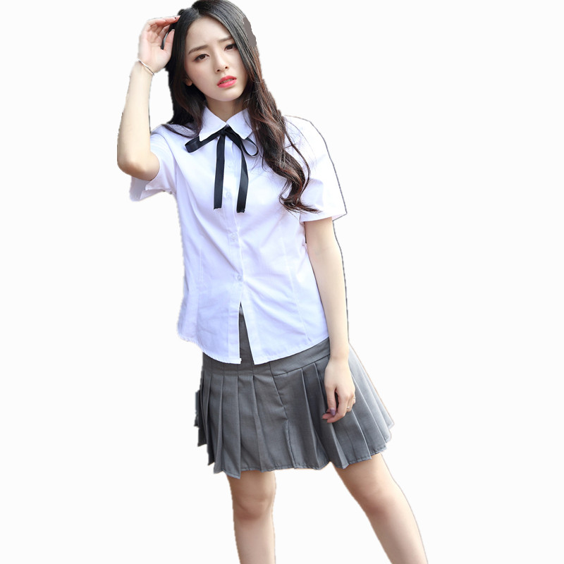 Japanese Girl School Uniforms Korean Student Female White -3644