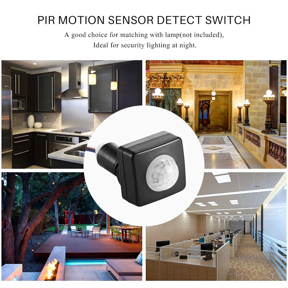 Pir Infrared Motion Sensor Switch Lighting Detector Sidewalk Switches Include Dimmers Sensors Photocells Timed Outdoor Wall For Home Led Lamp In From Lights On