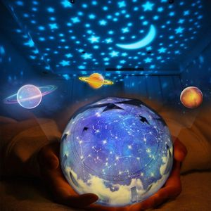 Image 1 - Star Night Lights for Kids Universe Cosmos Starry Sky Light LED Projector Rotating Lamp Nightlight Moon Sea World Decorative