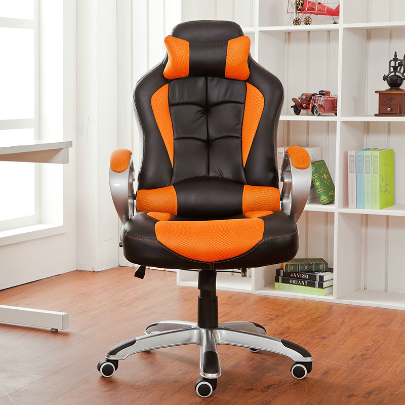 High quality chair office boss chair with pillow protection cervical computer game competitive chair comfortable furniture chair