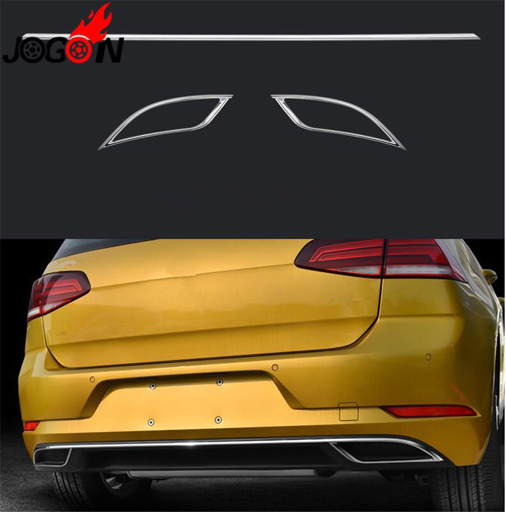 Car Rear Tail Pipes Trims For VW GOLF 7.5 MK7 TDI 2018 Facelift Back Bumper Decoration наклейки hong 50 5 8 4 vw golf mk7 stikers