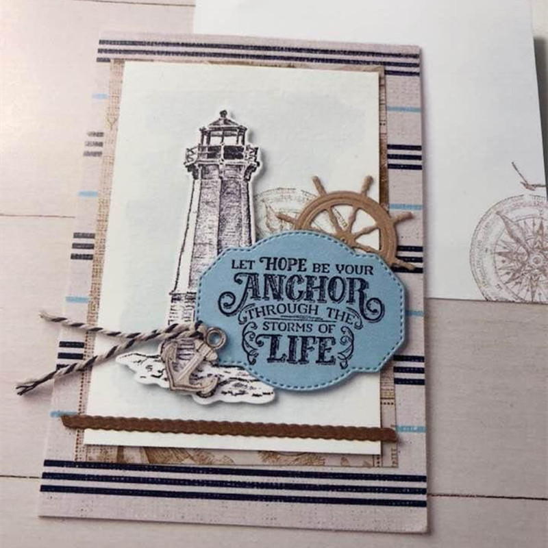 2019 Sailing Home Metal Cutting Dies and stamps DIY Scrapbooking Card Stencil Paper Cards Album Decoration Paper Cards(China)
