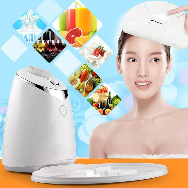 Face Mask Machine Automatic Fruit Facial Mask Maker DIY Natural Vegetable Mask With Collagen English Voice Beauty Machine HWB11 diy natural face mask machine automatic fruit facial mask maker vegetable collagen mask english voice machine face skin care