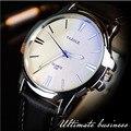 Relógios Dos Homens de Negócios de moda 2016 Top de Luxo da Famosa Banda de Couro À Prova D' Água de Pulso de Quartzo Relógios Para Homens Relógios Esportivos Casuais