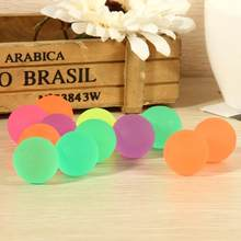 10 Pcs/lot Glow in the Dark Noctilucent Balls for Kids Children School Student Play Fun 32MM Luminous High Bounce Toys Ball(China)