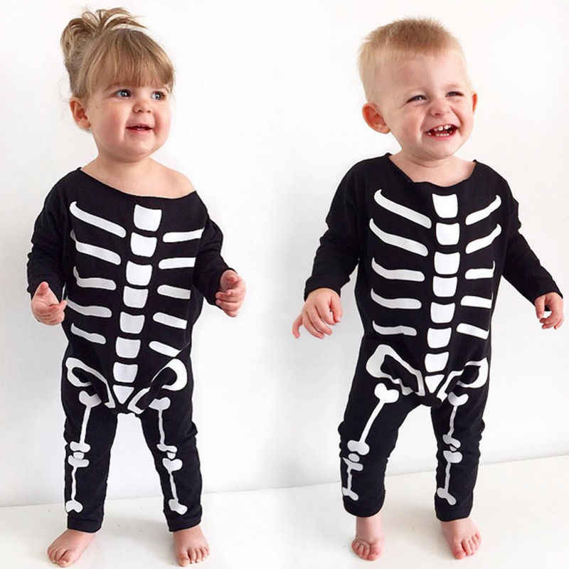155412a36a9a Halloween Baby Boys Girls Romper 2017 New Kids Costume Clothes Newborn  Cotton Long Sleeve Rompers Bebes