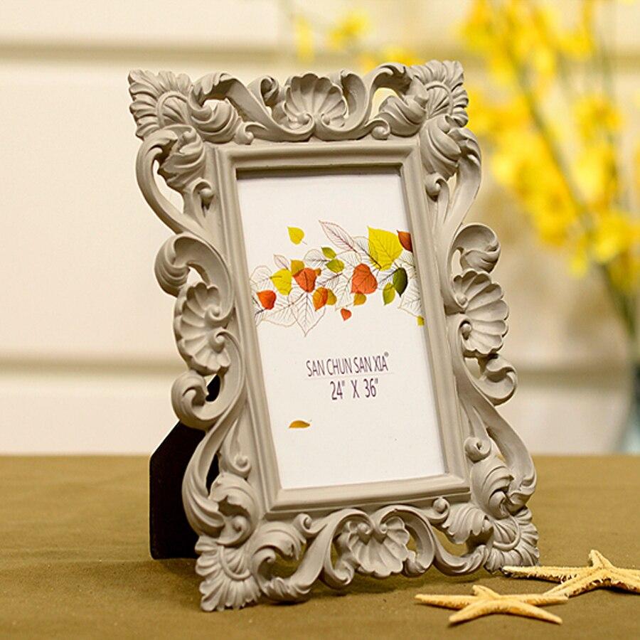 ФОТО 7 inch European resin frame creative flower wedding photo frame simple fashion photo frame