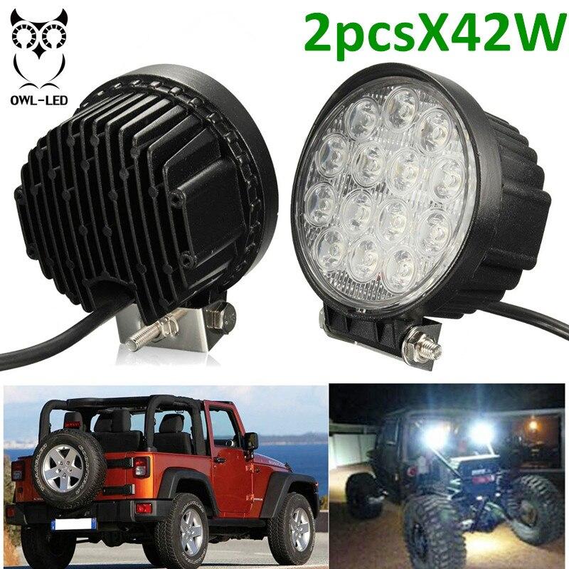 IP67 42W led work light spot LED Headlight car driving fog lights spot light for fishing Boating Hunting