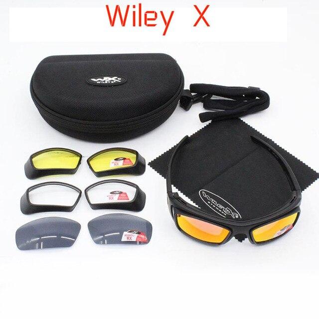 bff403911e Wiley X marca nueva llegada ciclismo gafas de sol de la bici de montaña 4  lente
