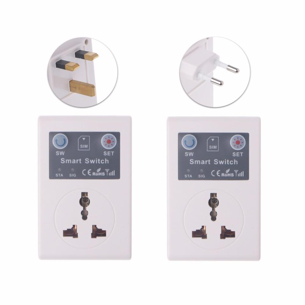 UE/220V teléfono RC inalámbrico remoto Control enchufe GSM interruptor inteligente de enchufe Socket remoto
