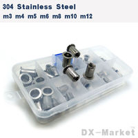 M3 M12 , each 10pcs , 304 stainless steel Rivet nut insert nut , high quality Knurling Embossing nuts , m3 m4 m5 m6 m8 m10 m12