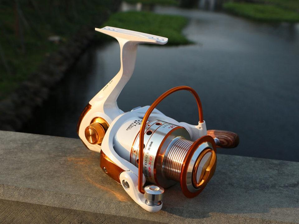 Spinning Fishing Reel 12BB + 1 Bearing Balls 500-9000 Series Metal Coil Spinning Reel Boat Rock Fishing Wheel 17