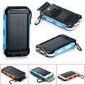 HIgh Quality 10000mAh Waterproof Flashlight Compass Solar Mobile Power Charger USB Output Cable For phone Camping SOS