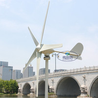 600w rated 400watt wind generator 5 blades small wind mill low start up wind generator with water proof wind controller