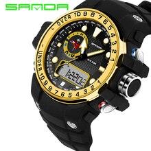 2017 SANDA Moda Multifunción Colorido al aire libre reloj militar compás 5ATM Correr natación escalada Reloj de pulsera Caliente