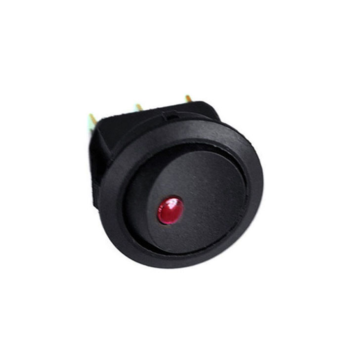 Auto Replacement Parts 5x 16a 12v Led Dot Light Car Boat Round Rocker On/off Spst Switch Red Toggle Switch On/off Black Button#y4