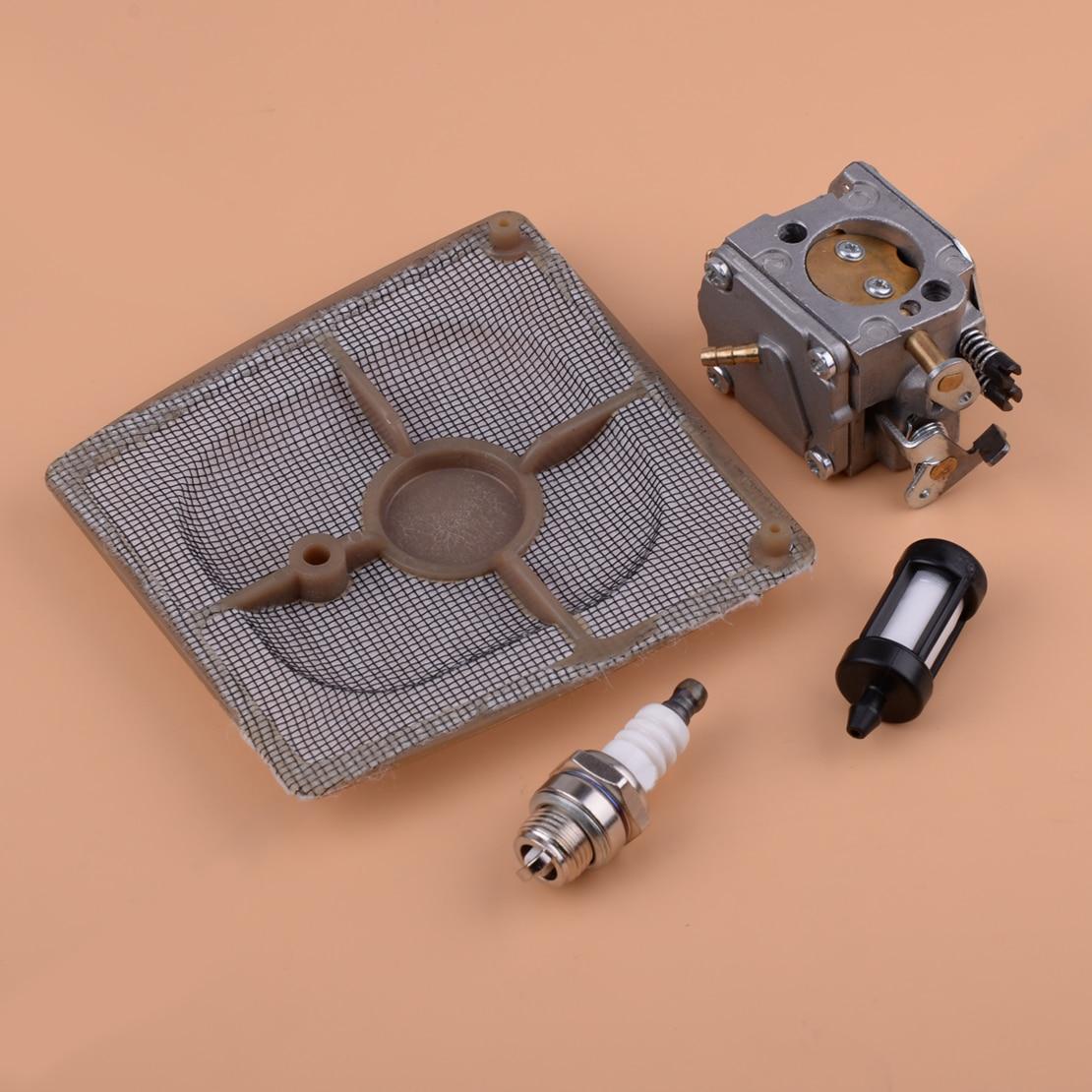 LETAOSK New Carburetor Carb & Air Fuel Line Filter Spark Plug Fit For STIHL 041 Farm Boss Gas Carb Chainsaw