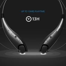 MBH25 Mpow Jaws Wireless Bluetooth 4.1 Stereo Headset Crystal Sound Light Necklace Neckband Handsfree Universal Black Headphones