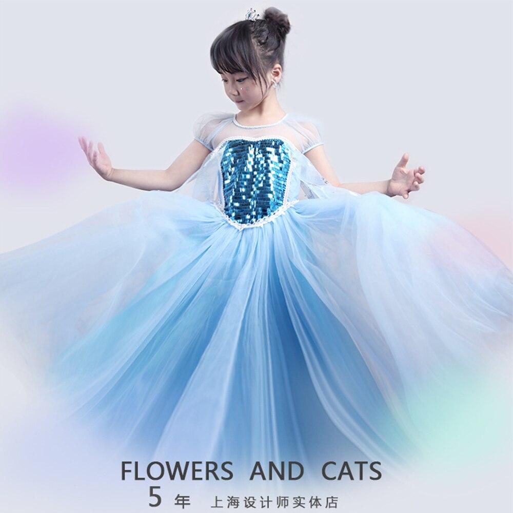 Detail Feedback Questions about 2018 Girls Princess Summer dress Elsa Queen  dress Children Kids Princess Anna Elsa Cosplay Costume Dress Party vestidos  on ... 9d83b9915408