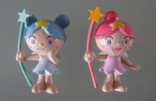 100pcs/lot 2styles pvc angel girls cartoon figures
