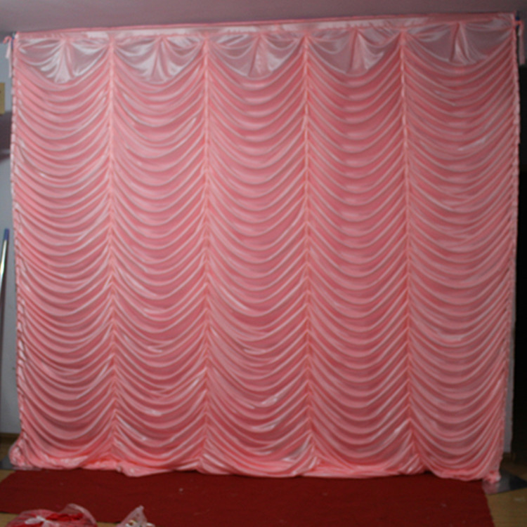 3M x 3M water fall wedding backdrop baby blue color fish scale stage curtain