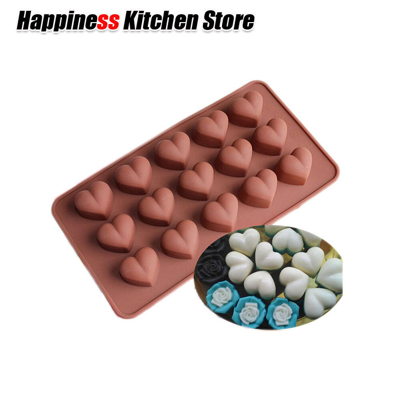 Non Stick DIY Cookie Sweet Heart Silicone Chocolate Ice Mold Sugercraft Cake Topper Soap Silicone Mold For Christmas