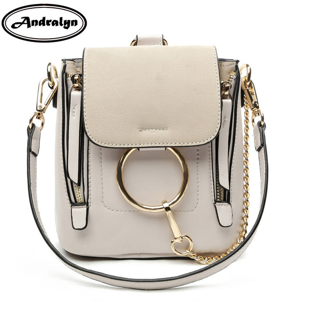 Andralyn  Ring Metal Mini Women Backpack Pu Leather For Female Young Girl Preppy Style Female Girls School Bags Ladies Backpack by Andralyn