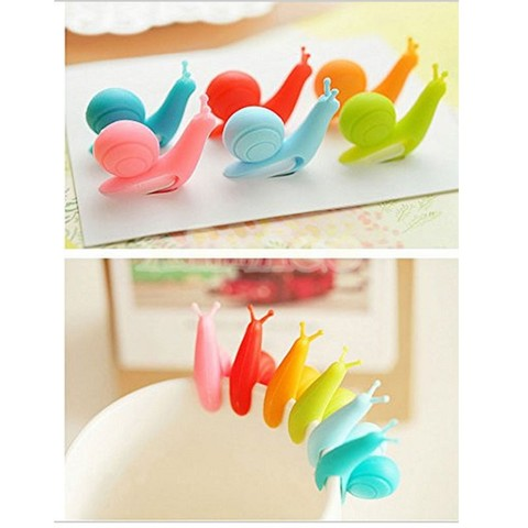6pcs/bag Lovely Tea Bag Clip Candy Colors Snail Shape Wine Glass Cup Clip Label for Hanging Tea Bag New Arrivals Tea Tools Multan