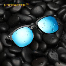 HDCRAFER Men Polarized Sunglasses Brand Design Aluminum-magnesium Fashion Frame Sun Glasses Women Retro Driving Eyewear UV400
