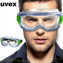 UVEX Safety Goggles Anti-impact Windproof Protective Eyewear Transparent Lens Eyeglasses Dustproof Outdoor Sporty Riding Goggles