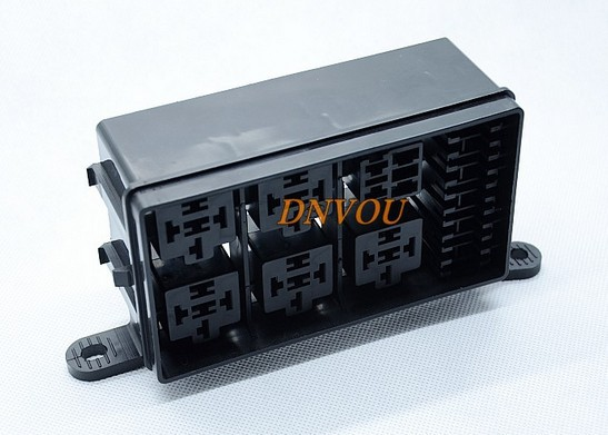 Automotive fuse box with 6 way relay Insurance Block No 5 Road Relay Block engine compartment box monkey picture more detailed picture about automotive fuse automotive fuse box with relay at fashall.co