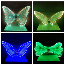 LED Wings Glowing Fashion Women Lady Luminous Angel Wings Catwalk Show Clothing Light Suits Dance Dress Accessories
