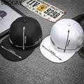 White Black Letter Embroidery 5 7 Inches Arrow Size Flat Baseball Cap Hip Hop Women Men Summer 6 Panel Snapback Fishing Sun Hat