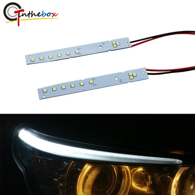 Gtinthebox BMW E60 HID Eşleşen Beyaz LED Göz Kapağı Modülleri 2008 2010 BMW E60 5 Serisi 528i 535i 550i M5 LCI Kırmızı Buz mavi
