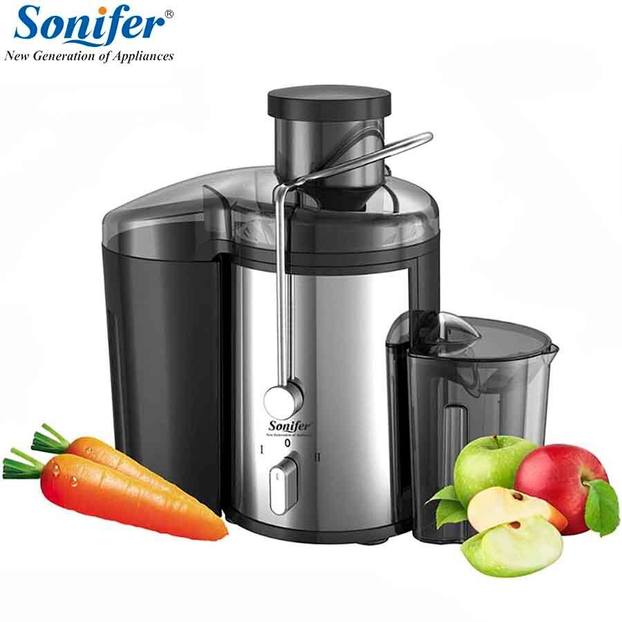 220 В нержавеющей стали соковыжималки 2 Скорость Электрический экстрактор сока фрукты питьевой машина для домашнего Sonifer