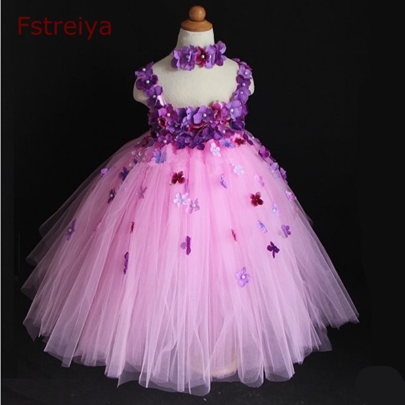 Flower Baby girl Dresses Girls custom made full dress princess sofia cinderella party princess dress elsa costume kids clothes baby girls flower dresses for weddings enfants party dress sweet princess one piece elsa costume sleeveless o neck 5 colors