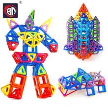 New Magnetic Blocks Magnetic Designer Construction Set Model Building Toy Plastic Magnet Educational Toys For Children Kids Gift цены
