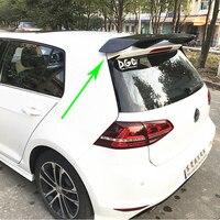 Golf 7 GTI Modified REVOZPORT Style Carbon Fiber Rear Roof Lip Spoiler Car Wing for Volkswagen Golf 7 GTI R 2014 2017