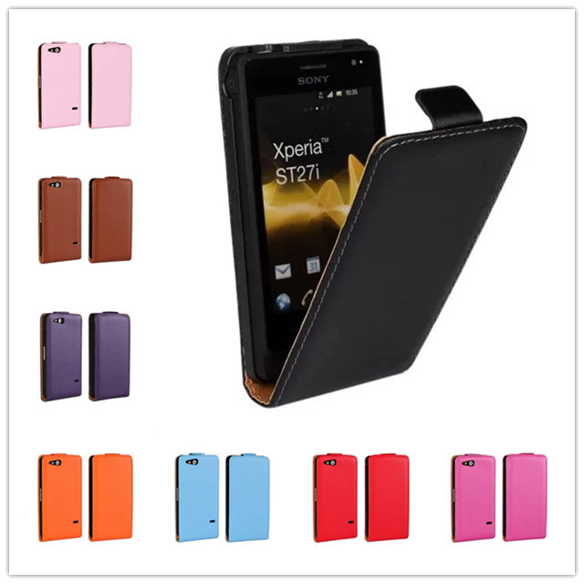 For Sony Xperia Go ST27i Case High quality wallet Leather design Magnetic Flip Leather Cases Cover Skin