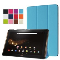 Ultra Slim Custer Magnetic 3 Fold Stand PU Leather Cover Protective Case For Acer Iconia Tab