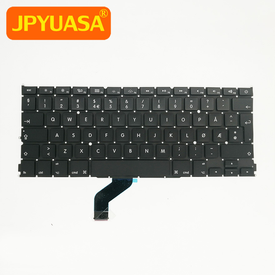 5pcslot New A1425 Norway Norwegian keyboard For Apple Macbook Pro 13'' Retina A1425 2012 2013 MD212 MD213