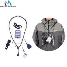 Maximumcatch Hand Woven Fly Fishing Lanyard Braided Necklace with Fly Box & Streamside Accessories Fly Fishing Tools Kit