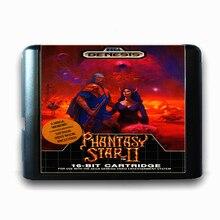 Phantasy Star 2 de 16 bits da Sega MD Cartão de Jogo para o Mega Drive para Genesis