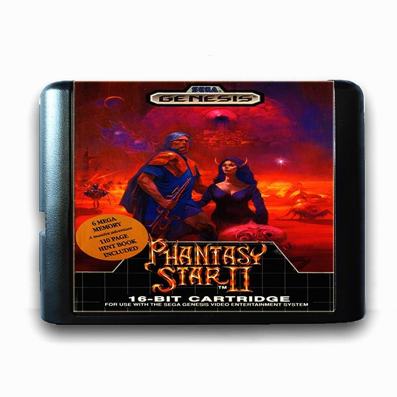 Phantasy Star 2 16 bit Sega MD Game Card for Mega Drive for Genesis