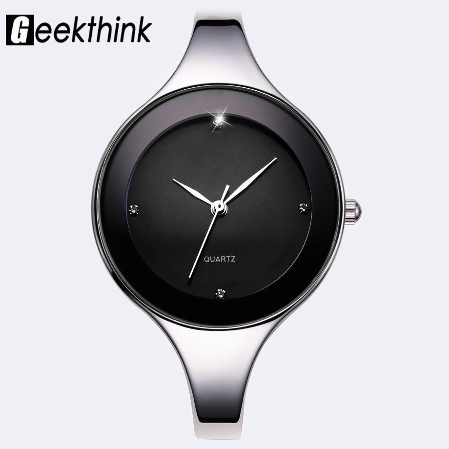 GEEKTHINK Luxury Brand Fashion Quartz Watch Women Ladies Stainless Steel Bracelet Casual Clock Female Dress Gift