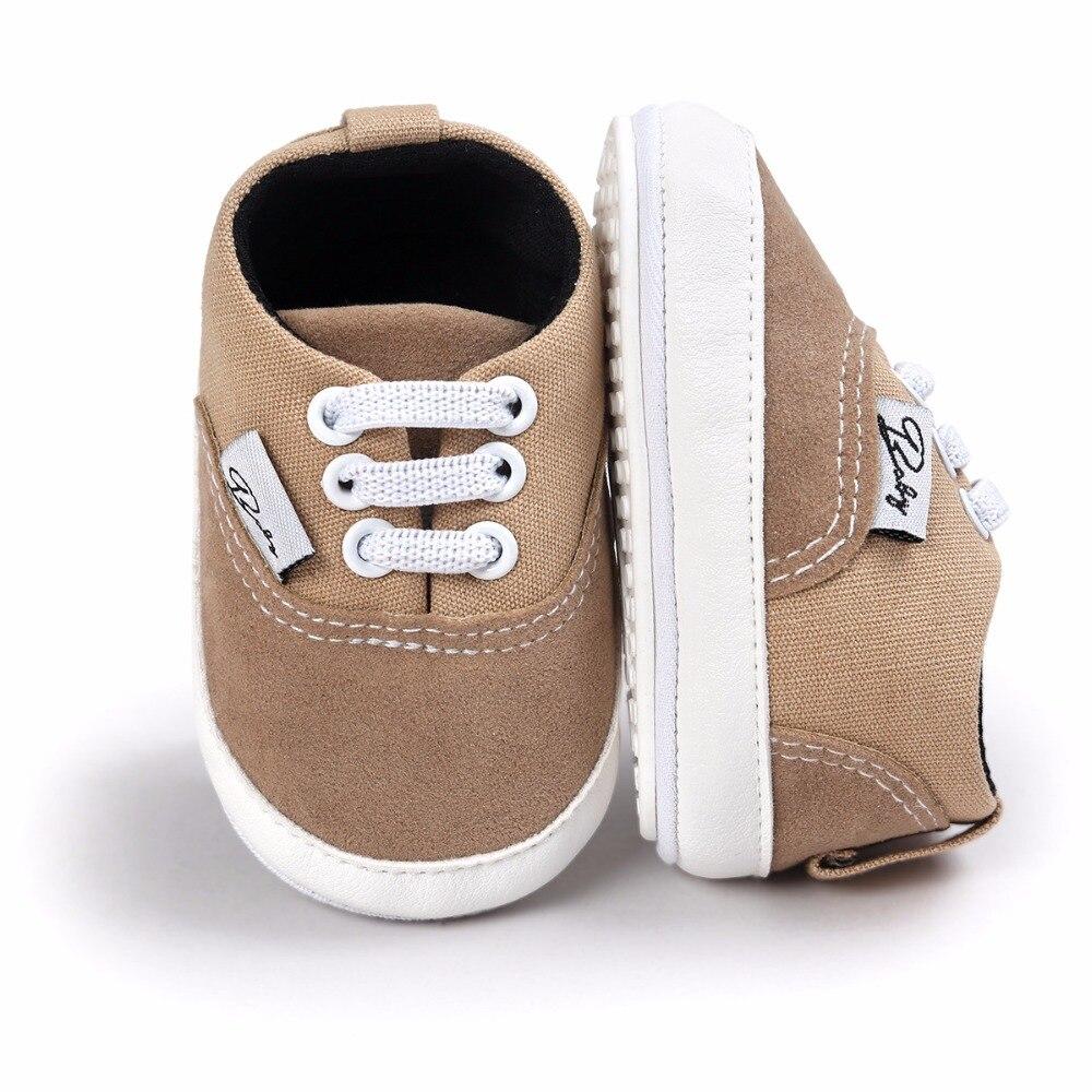 Baby Baby Babyschoenen Mode Ondiepe Canvas Mocassins Lace-Up Sneakers - Baby schoentjes - Foto 5